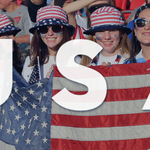 We cant hear you Twitter! Cheer louder! #USA #USA #USA We #Believe #GoTeamUSA #OneNationOneTeam http://t.co/cGrTALDszI