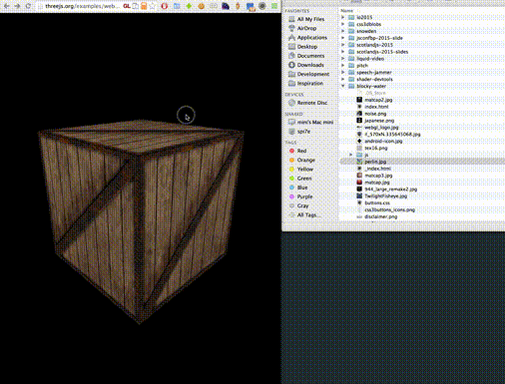 On the works: modify WebGL textures directly from @ChromeDevTools with drag and drop