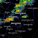 The worst of it is pushing through the Beltway now. Heavy rain next 20-30 mins. Then showers. http://t.co/eDSDiK18bR