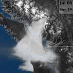 Latest visible satellite imagery of the smoke plume over the Inner South Coast of #BC #BCstorm http://t.co/5vMs8WJM8d