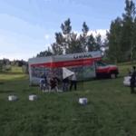 The #yyc balloon mans takeoff (via https://t.co/0SJ1mNDb6u) http://t.co/UWc3XsuP2r