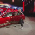 The Beast = @Allstates worst nightmare! #RAW @BrockLesnar @HeymanHustle @Cadillac http://t.co/hCSXgVbslg