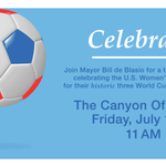 Congrats to @ussoccer_wnt on Sunday's victory! Celebrate the incredible #USWNT Friday at 11am: http://t.co/7VrhhUveDQ http://t.co/d77LCaReL2