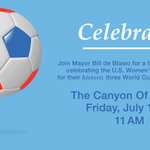 This Friday at 11am, join us as we celebrate the #USWNT World Cup victory: http://t.co/n4nSlt79zD http://t.co/Q1pt5mFtyH