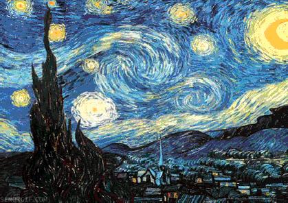 GIF: Vincent van Gogh's The Starry Night - http://t.co/uFjQMVAXPU http://t.co/c4QB8knhEc