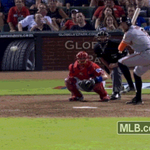 He Hits it High… He Hits it Deep… OUTTA HERE!   Tonight's #GoldenGIF http://t.co/l95xC3GYZt