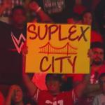 "@WWE San Jose is #SuplexCity!! @BrockLesnar #RAW @HeymanHustle http://t.co/6YvDoXk8iH"""