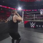 Its #WalkOwensWalk, as @WWECesaro sends @FightOwensFight back to the locker room! #RAW #mizTV http://t.co/tkgPHoXTFm