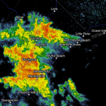 2:40am: Non-severe Storms in MB, Conway producing heavy rain and frequent lightning #scwx http://t.co/5c1NlGRsEV