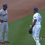 """Adrian Beltre, to @astros third-base coach: """"Hey , wanna play cat -- OK, never mind."""" http://t.co/GHXIplNV0Q http://t.co/vQZ1lF0J31"""
