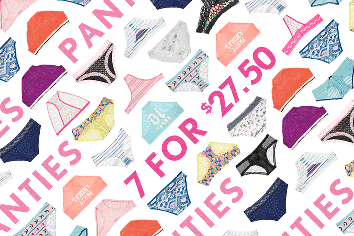 One-track mind ????. Head to the #PantyParty for 7/$27.50 panties, now thru 9/7! ???? ????http://t.co/so59gNbMmv http://t.co/qP3iGXRDsk