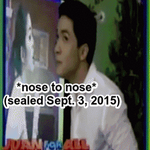 Nose To Nose @aldenrichards02 @mainedcm Ang cute nila tignan! ...haist.... *sigh* #ALDUB7thWEEKSARY http://t.co/DiGtRyatMl