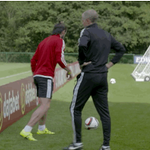 Gareth Bale from an impossible angle in Wales training. http://t.co/S1W9PCWHnG
