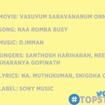 RT @CinemaCalendar: #TOP5TAMILSONGS of the week by @CinemaCalendar 5 #VSOP 4 #ChandiVeeran 3 #Vaalu 2 #Saahasan 1 #Puli  RT if you agree. h…