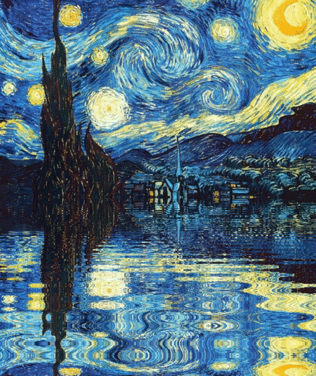 I want to run away into this Van Gogh Starry Night gif. Who's with me? #art http://t.co/PkjZzdxp7Y