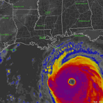 10 years ago today, Katrina made landfall on La.-Miss. border as a strong Cat. 3 with a 30 ft storm surge. #Katrina10 http://t.co/qUpULpFgzO