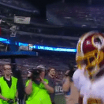 That feeling when you score your second TD in one game. #WASvsBAL #BackToBack #HTTR WATCH | http://t.co/tG7xoKWShR http://t.co/tyEaO5Y4SJ