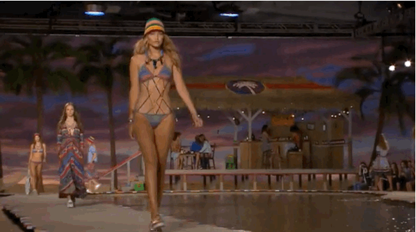 Who wouldn't want to be deserted on @tommyhilfiger's tropical island? #nyfw