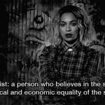 """Minha primeiras """"aulas/lições"""" sobre o feminismo foram com vocês, thank you @Beyonce. #HappyBirthdayBeyonce http://t.co/7hoJG5wWEY"""