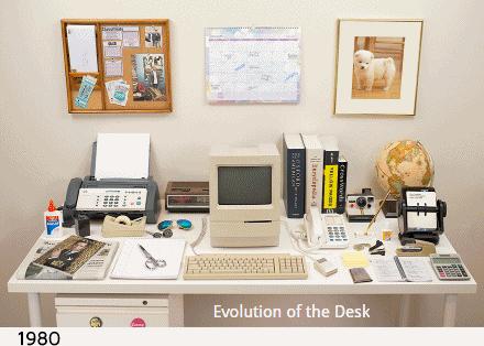 A evolução do escritório em poucos segundos! http://t.co/89NMl6IUW8