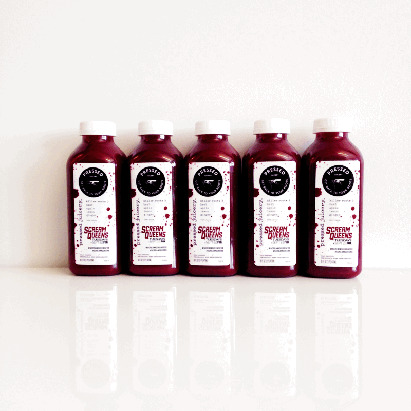 #NYFW, join us + @ScreamQueens to grab our 'Killer Roots 3' juice! #PressedJuicery http://t.co/xCoDPCreYV