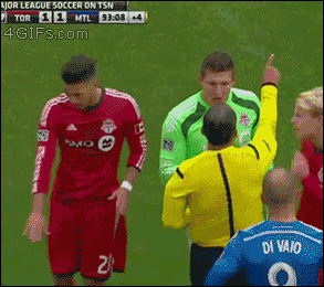 Goalkeeper performs a medical miracle, and is yellow carded http://t.co/mqUuwN70RY