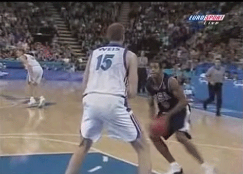 Vince Carter's dunk over Frédéric Weis happened exactly 15 years ago. http://t.co/Uhzu7pOubJ