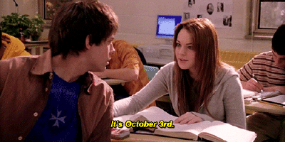 On October 3rd, he asked me what day it was. #MeanGirls #October3rd http://t.co/CqCHXZqzxW