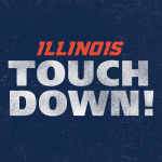 MARCHIE! 22 yards from Lunt...On the board! #Illini http://t.co/pcesNbUkyg