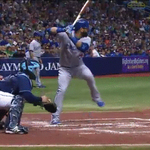 Jose Bautista laces the ball to left and the #BlueJays tie the game http://t.co/ui6Aki7nEy http://t.co/RlNJ3VsAXL