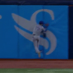 Bautista makes a tough catch against the wall and Estrada appreciates the effort http://t.co/VEp43XWtut #BlueJays http://t.co/q5mcIfRkHJ