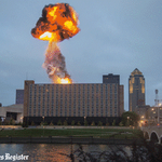 Check out this implosion! The Riverfront YMCA goes down with a bang. http://t.co/ZQFc3mNuPa