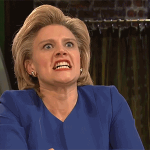 """Hillary on Trump: """"I will destroy him, and I will mount his hair in the Oval Office."""" http://t.co/trneiGRqvN #SNL http://t.co/LrYUw76UwC"""