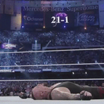 Breaking #TheStreak never gets old for @BrockLesnar. #RAW @HeymanHustle http://t.co/AfLb7lmeVU