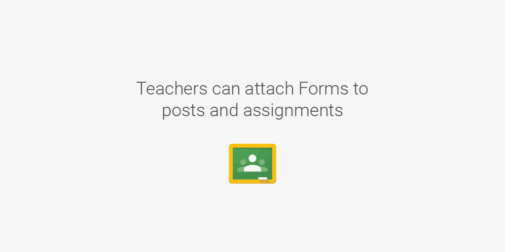 Teachers: It's now easier to attach a Form to your assignments & you can open responses right from #GoogleClassroom http://t.co/YlinlFVCpm