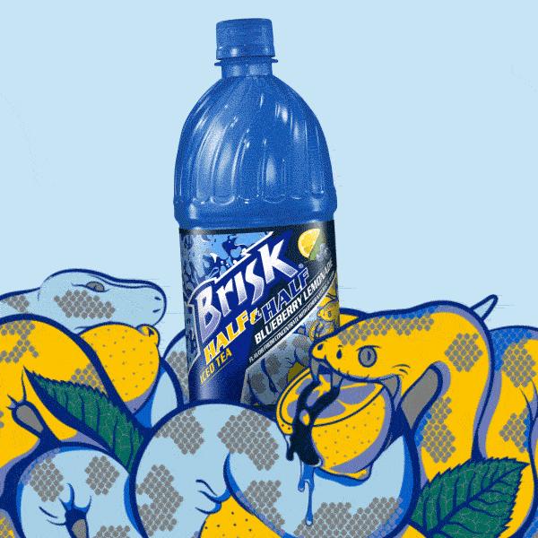 Brisk Half & Half Blueberry Lemonade. We double dog dare you not to try it. http://t.co/oJJCjKMEWb