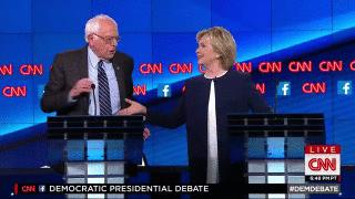 RT @CNN: .@BernieSanders & @HillaryClinton share a handshake over the