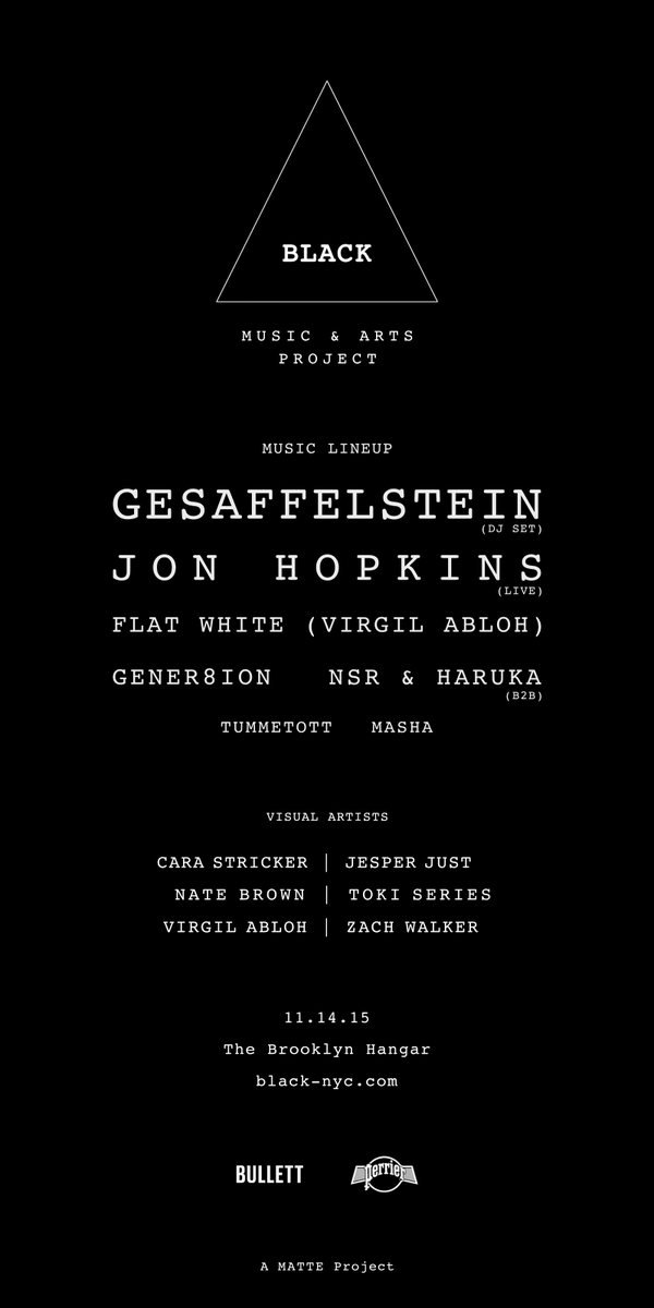 Retweet this for a pair of tix to @blkmusicarts w/#Gesaffelstein, @Jon_Hopkins_ + more @TheBklynHangar #NYC (11/14) https://t.co/ItaYDvKhoZ