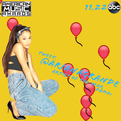 RT @TheAMAs: Is @ArianaGrande your EVERYTHING?!  RT to VOTE for her for #AMAs ARTIST OF THE YEAR! https://t.co/iZ4Vqx0JJz