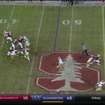 .@devoncajuste is loose! 42 yards to the ND 12. #GoStanford #BeatND https://t.co/qJjEfJEzV7
