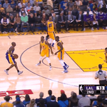 Kobe 3 ???? #GoLakers 2nd quarter on ???? @NBAonTNT https://t.co/QDRDYIEg5Q