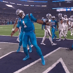 Who wants to name this dance because we have no idea. #Panthers up 30-6! #CARvsDAL https://t.co/nnAN6mvJAM