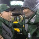Bart Starr hugs Brett Favre https://t.co/9tcnU4BL4M