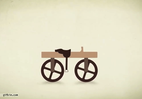 A gif to spice up the Sunday after Thanksgiving, via @Reddit: The evolution of the bicycle. https://t.co/6knmOPsGap