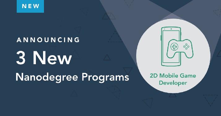 Announcing 3 New Nanodegree Programs! https://t.co/IqzXNSlw6E #DemocratizeEducation #StudentsFirst #BeInDemand https://t.co/ZP8kpYaooG
