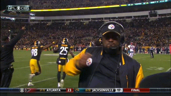 I have a feeling this Tomlin gif will be a regular in the future #Steelers https://t.co/9cTqxViJEc