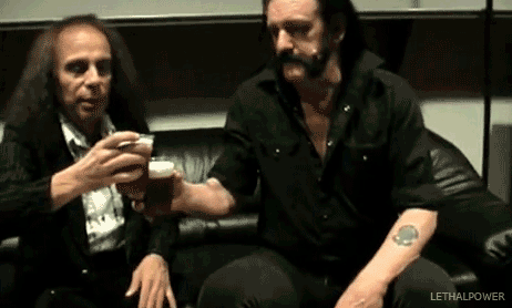 This is what I like to imagine Dio and Lemmy are up to right now.
