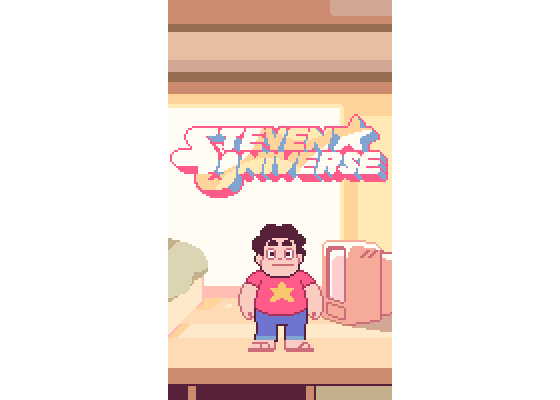 My Steven Universe WIP Feels so weird, so meta and so adorable that @SteSug exists. #pixelart #gamedev https://t.co/PBap2Ys3MO