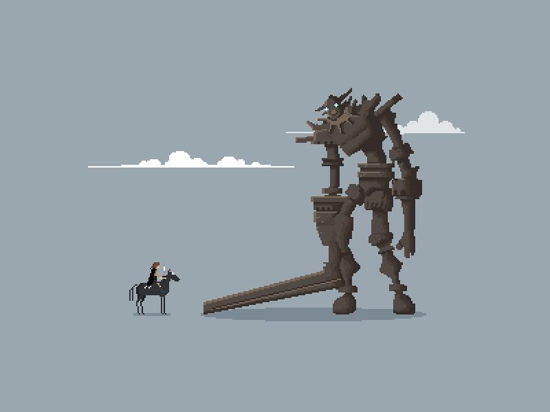 """Pixels of the Colossus"" #pixelart animation #sotc #gaming https://t.co/NTuLzamB66 @theyetee https://t.co/boqKlBJeiH"