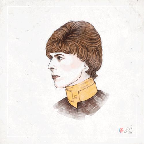 Tributo a David Bowie (1947-2016) di Helen Green  https://t.co/lrWFy1v6jm https://t.co/uOSeWQKpbU